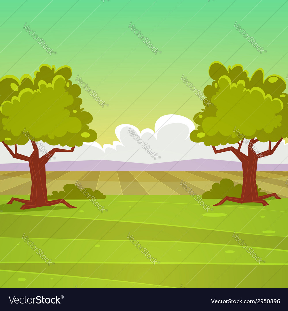 Cartoon landscape vector | Price: 3 Credit (USD $3)
