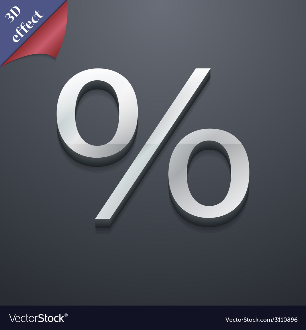 Discount percent icon symbol 3d style trendy vector | Price: 1 Credit (USD $1)