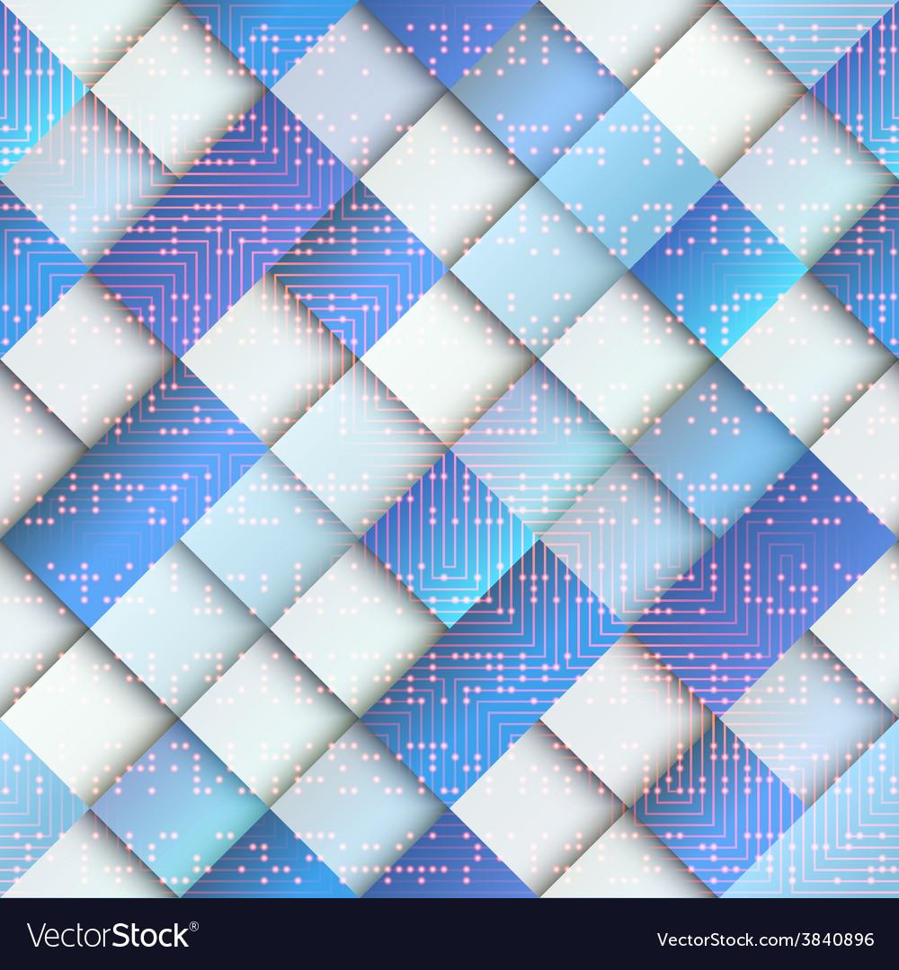 Light blue geometric pattern with matrix elements vector | Price: 1 Credit (USD $1)