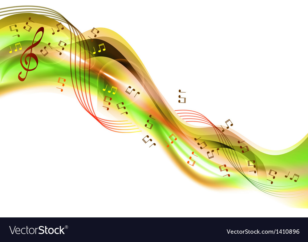 Music abstract green vector | Price: 1 Credit (USD $1)