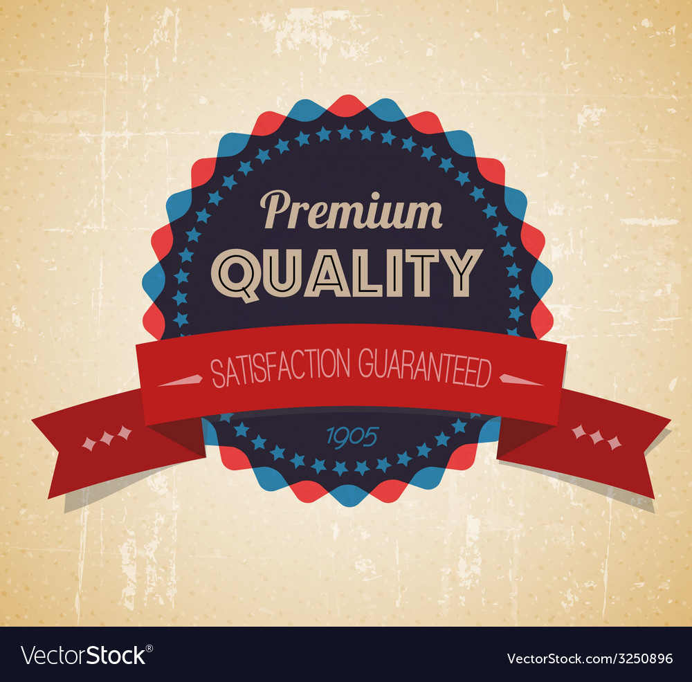 Old round retro vintage grunge label vector | Price: 1 Credit (USD $1)