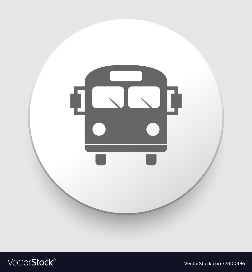 School bus icon with color variations vector | Price: 1 Credit (USD $1)