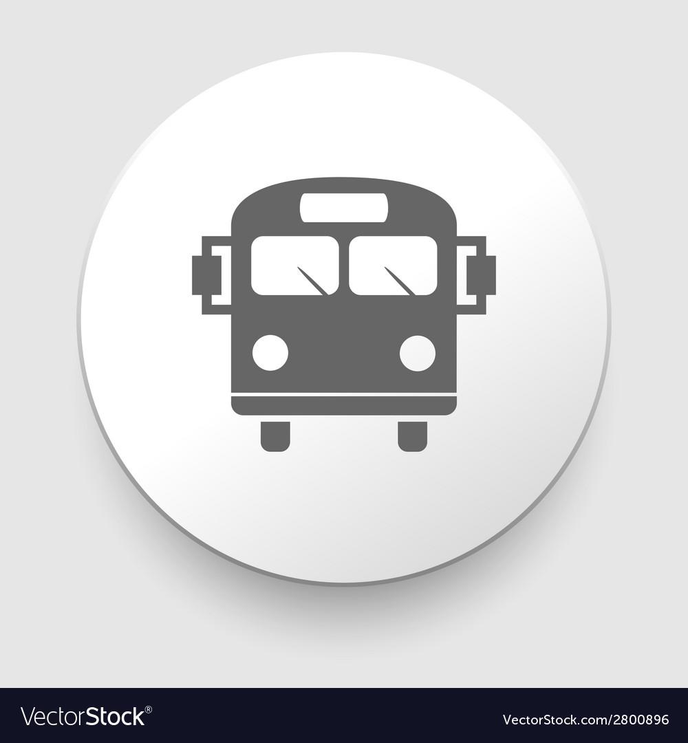 School bus icon with color variations vector | Price: 1 Credit (USD $1)