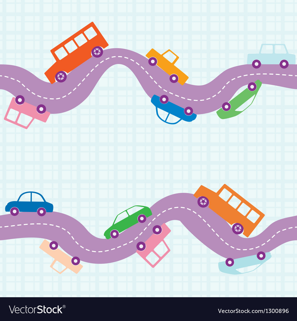 Seamless road background vector | Price: 1 Credit (USD $1)