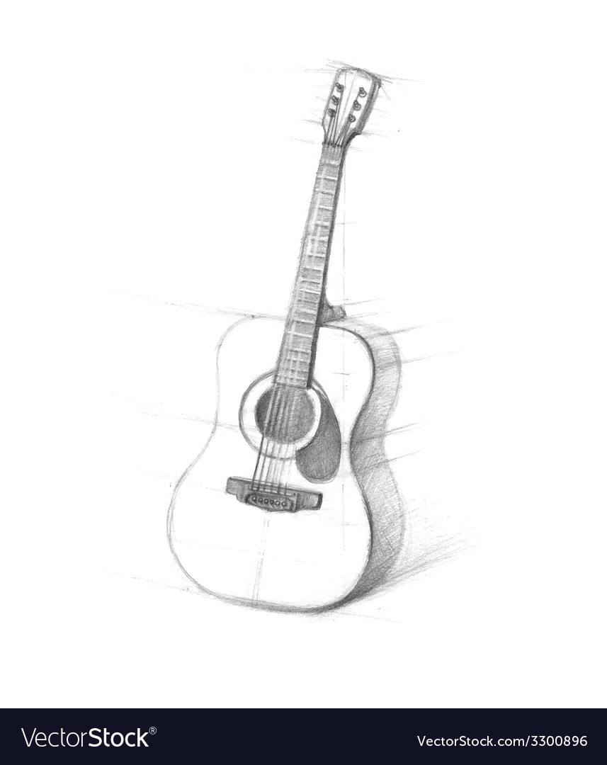 Sketch of guitars on a white background vector | Price: 1 Credit (USD $1)