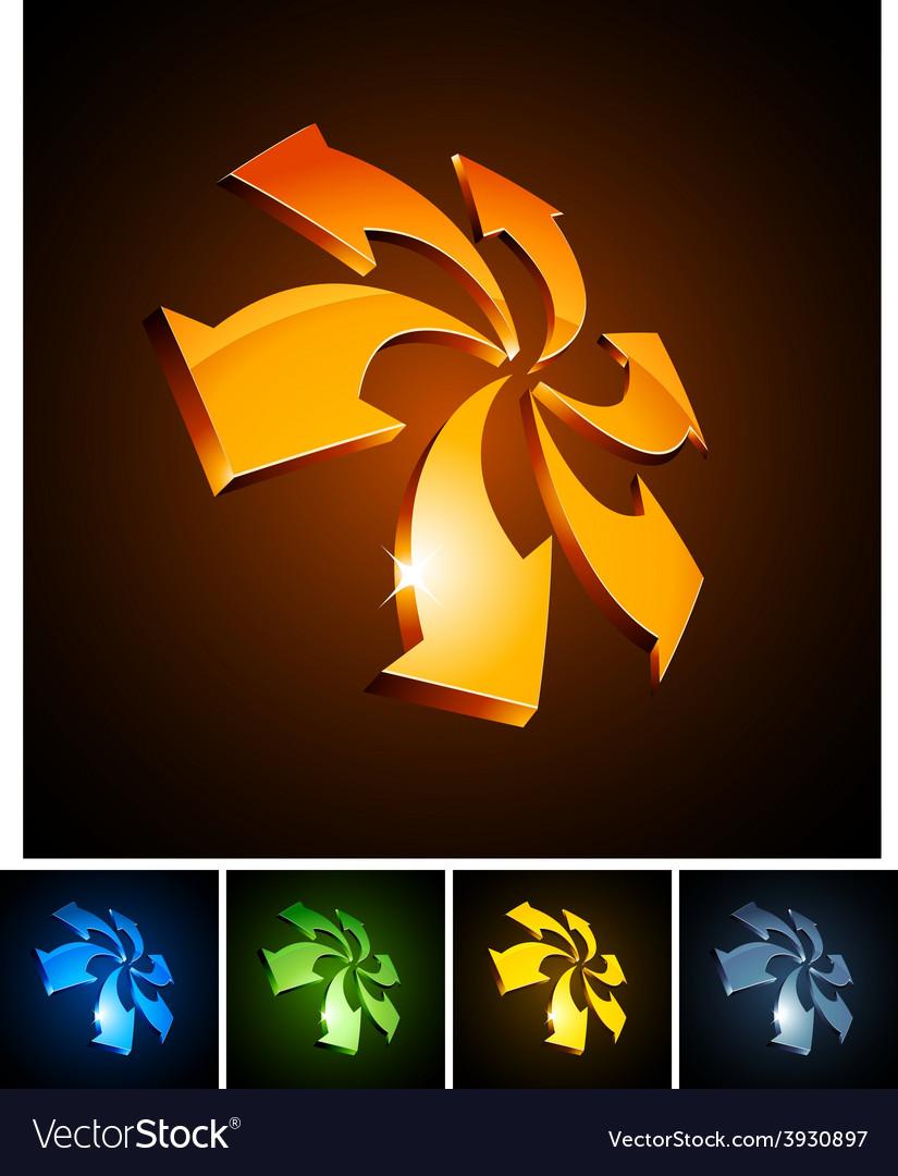 3d vibrant arrows vector | Price: 1 Credit (USD $1)