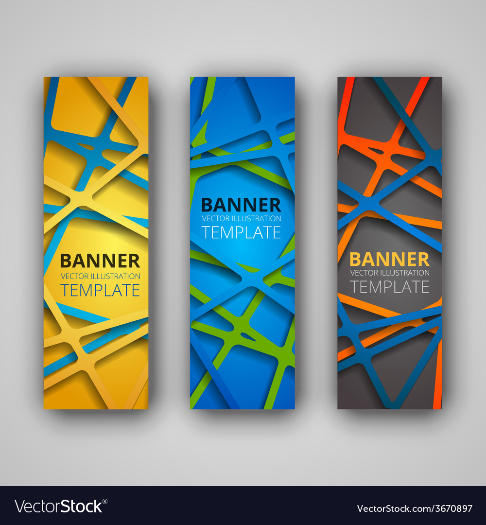 A set of modern banners vector | Price: 1 Credit (USD $1)