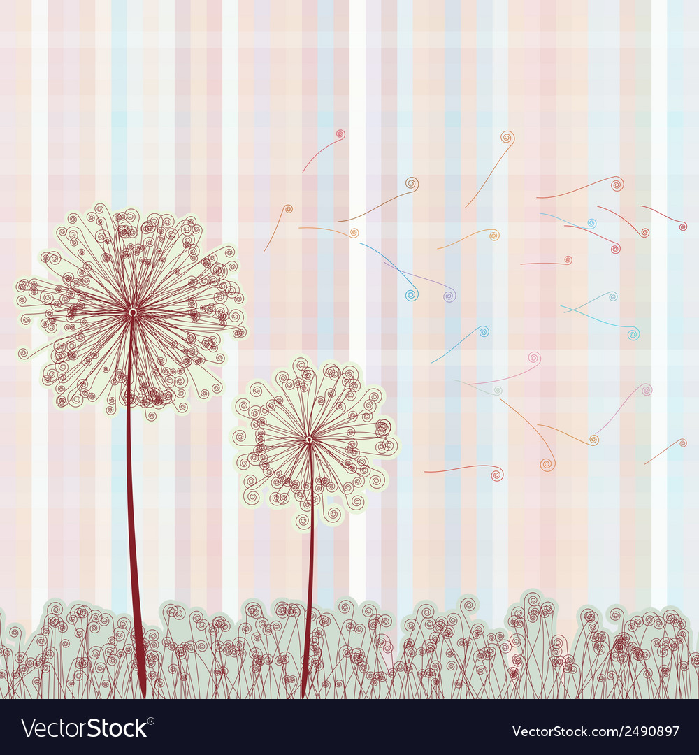 Abstract colorful dandelion eps 8 vector | Price: 1 Credit (USD $1)