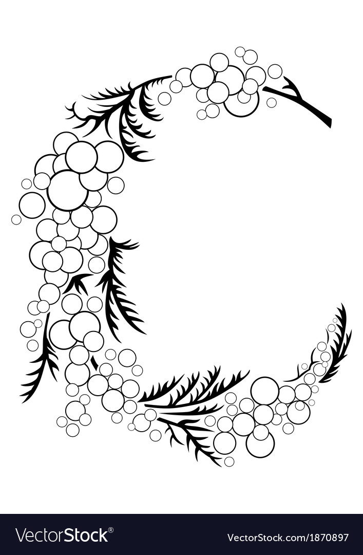 Abstract floral branch vector | Price: 1 Credit (USD $1)
