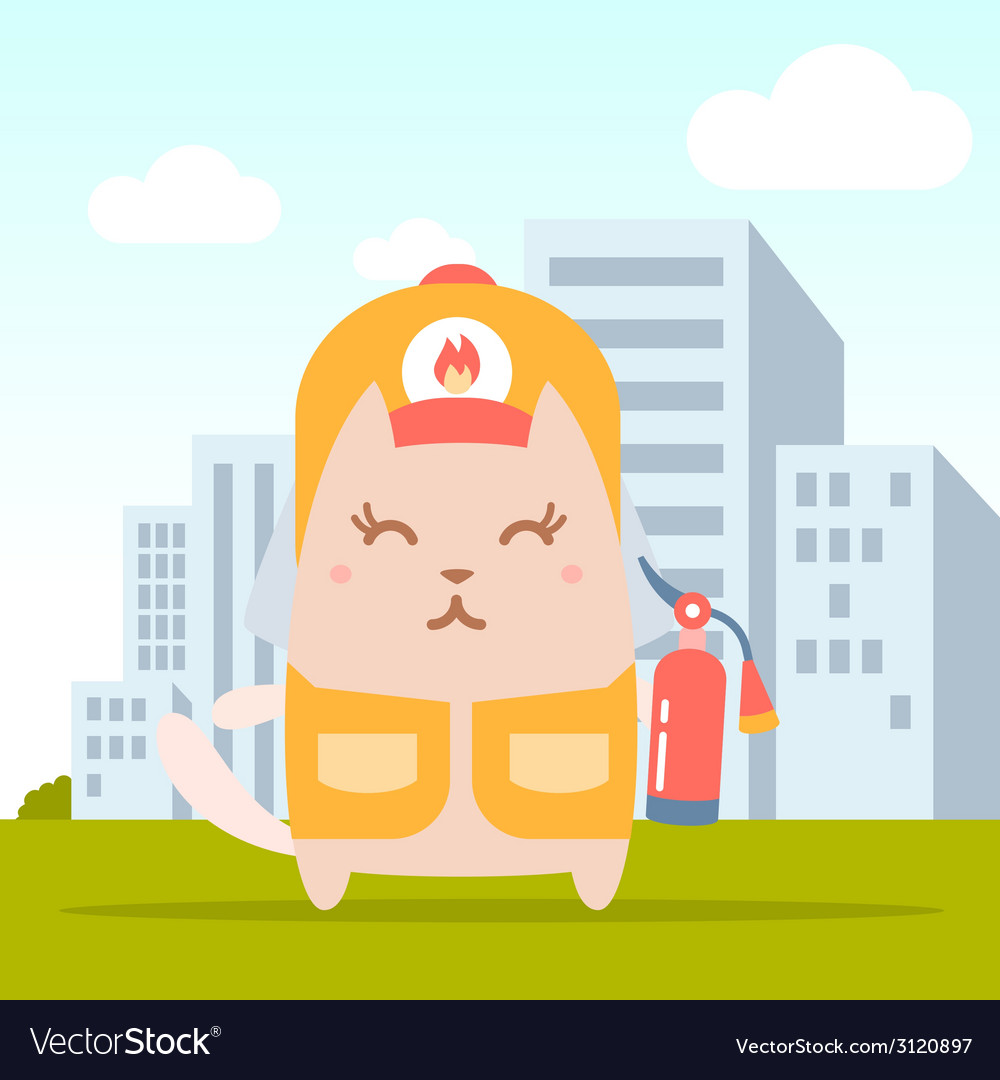 Character firefighter in coveralls and helmet vector   Price: 1 Credit (USD $1)