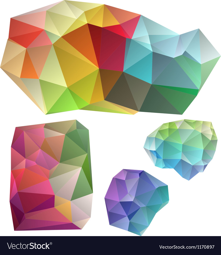 Colorful geometric design elements vector | Price: 1 Credit (USD $1)