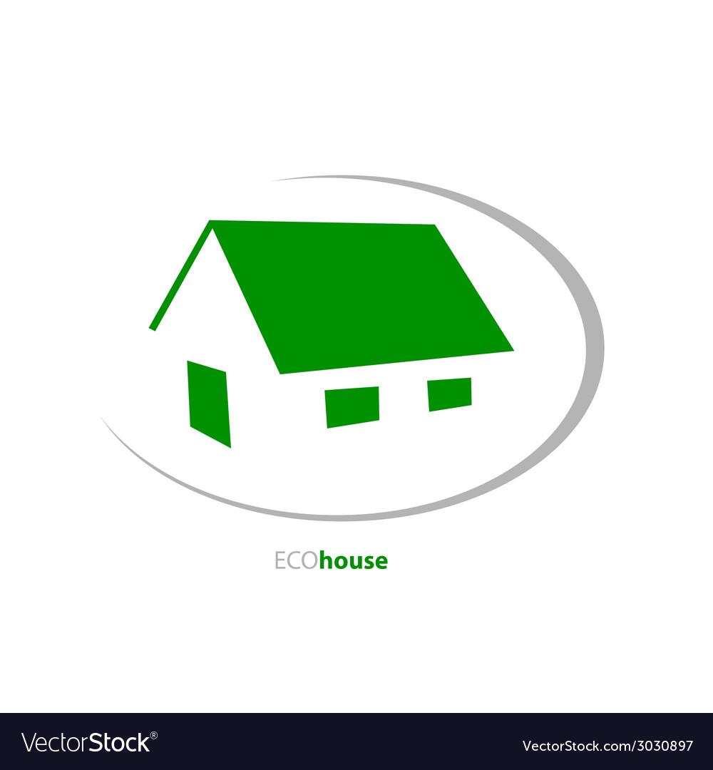 Eco house art vector | Price: 1 Credit (USD $1)
