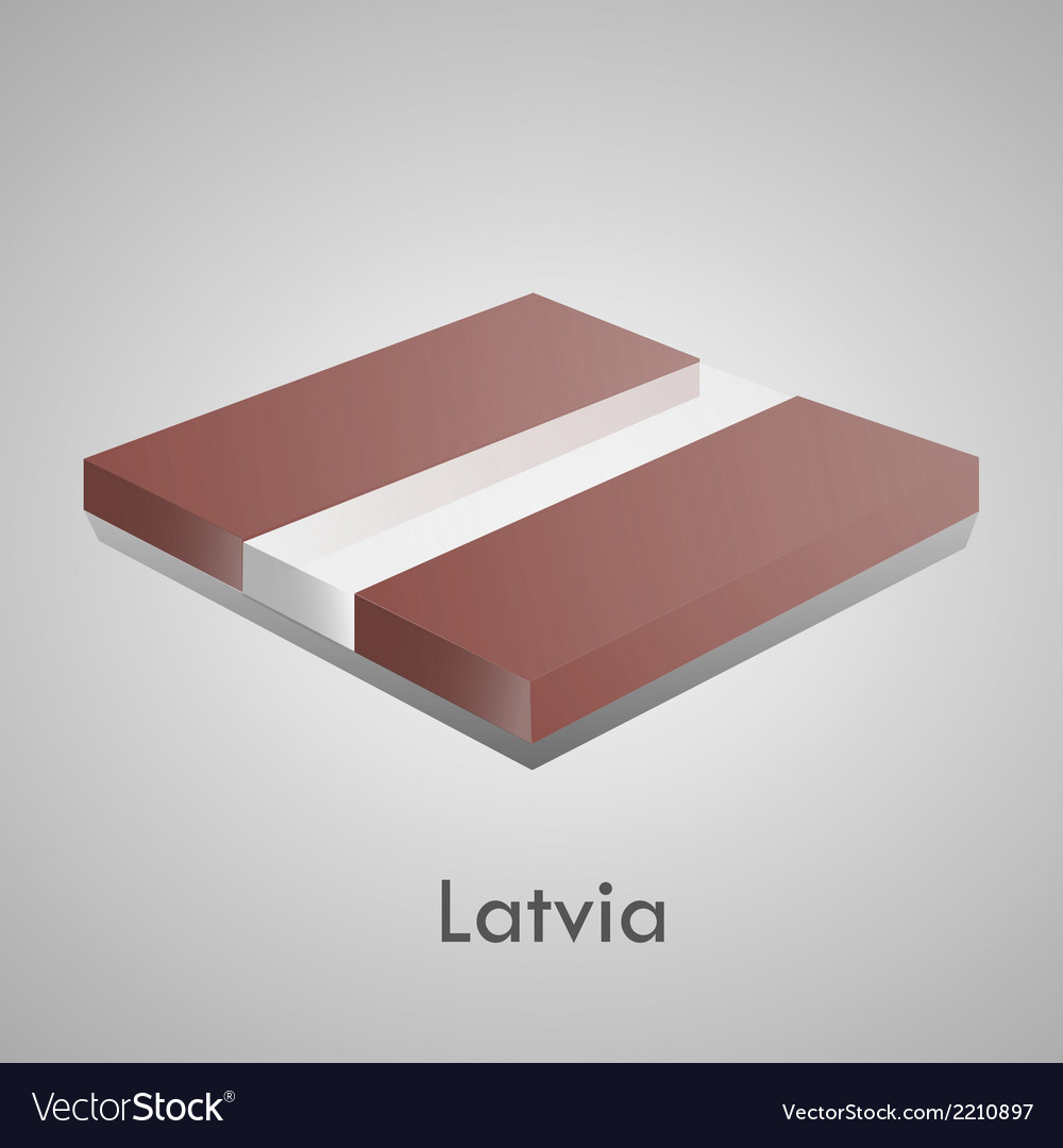 European flags set - latvia vector | Price: 1 Credit (USD $1)