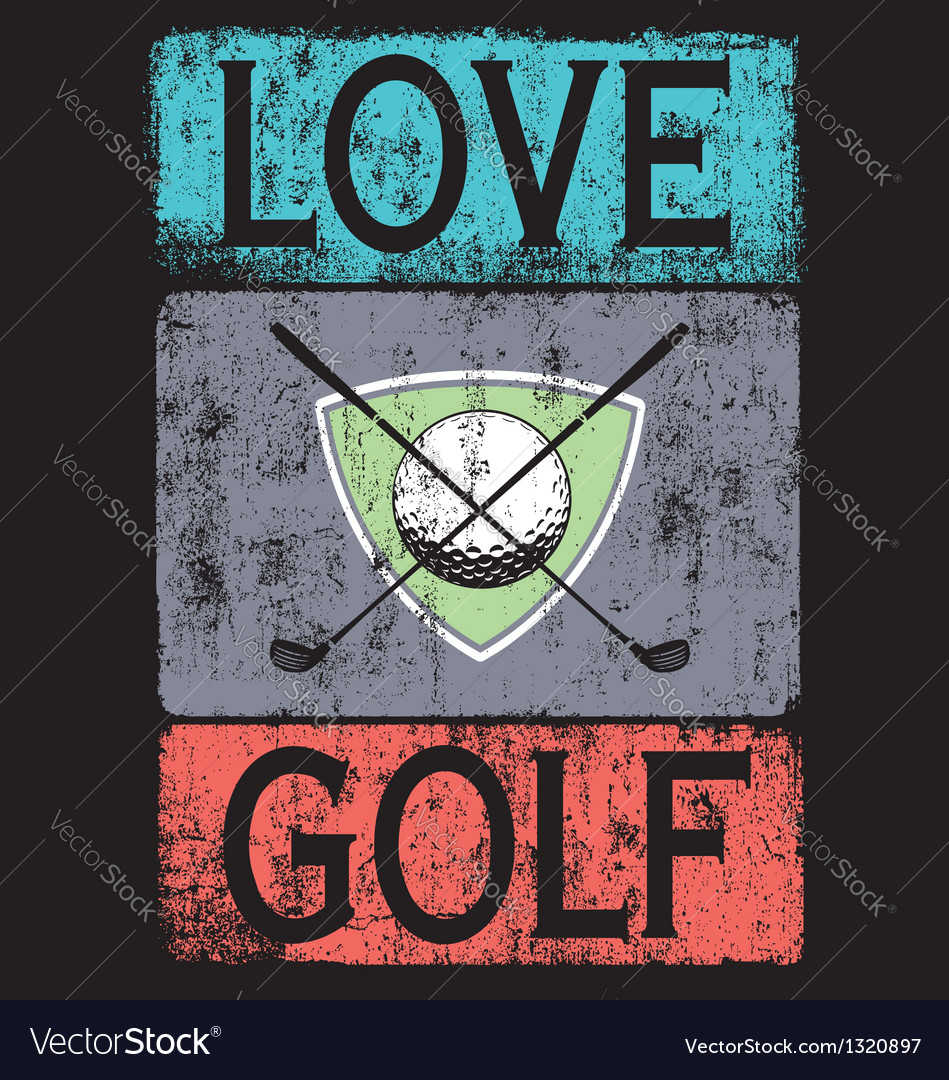 Golf love black shirt vector | Price: 1 Credit (USD $1)