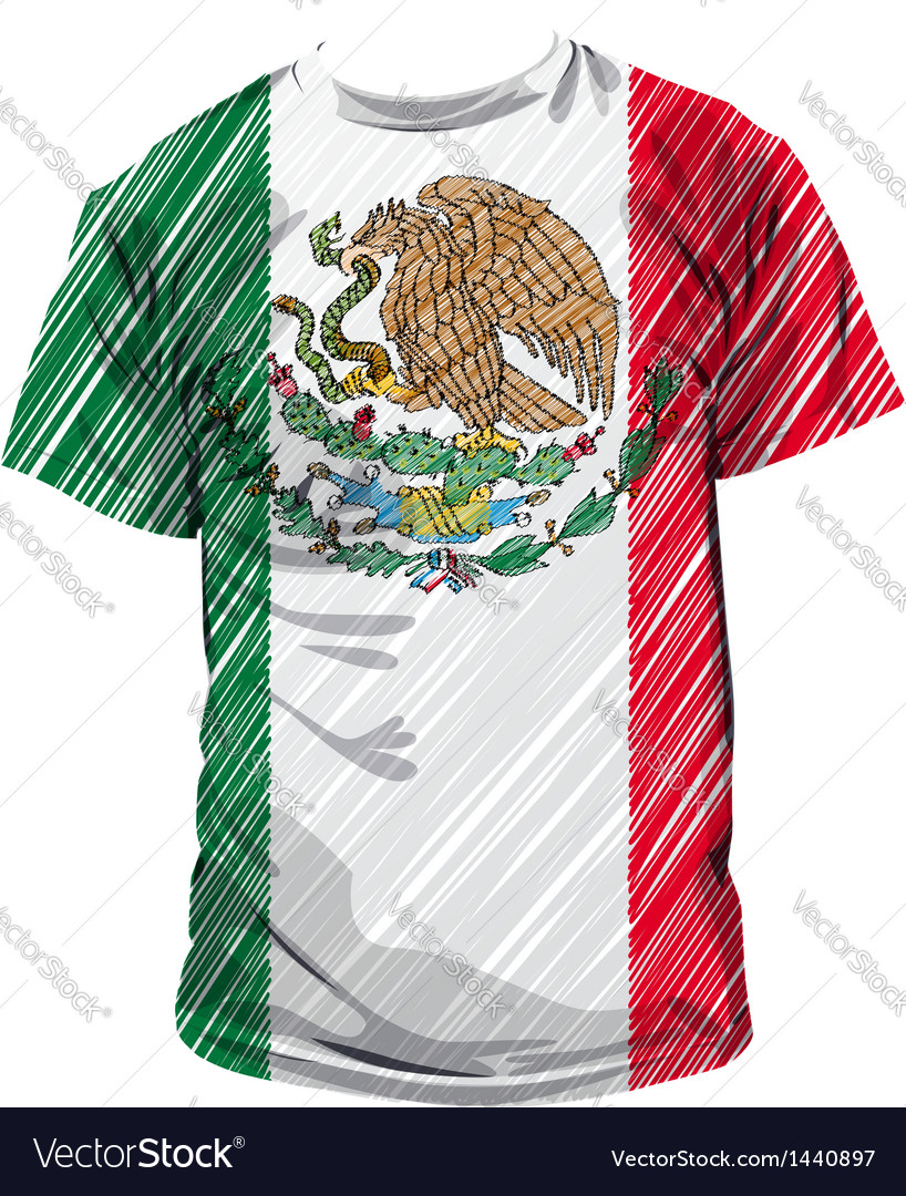 Mexican tee vector | Price: 1 Credit (USD $1)