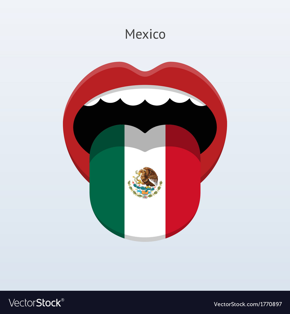 Mexico language abstract human tongue vector | Price: 1 Credit (USD $1)