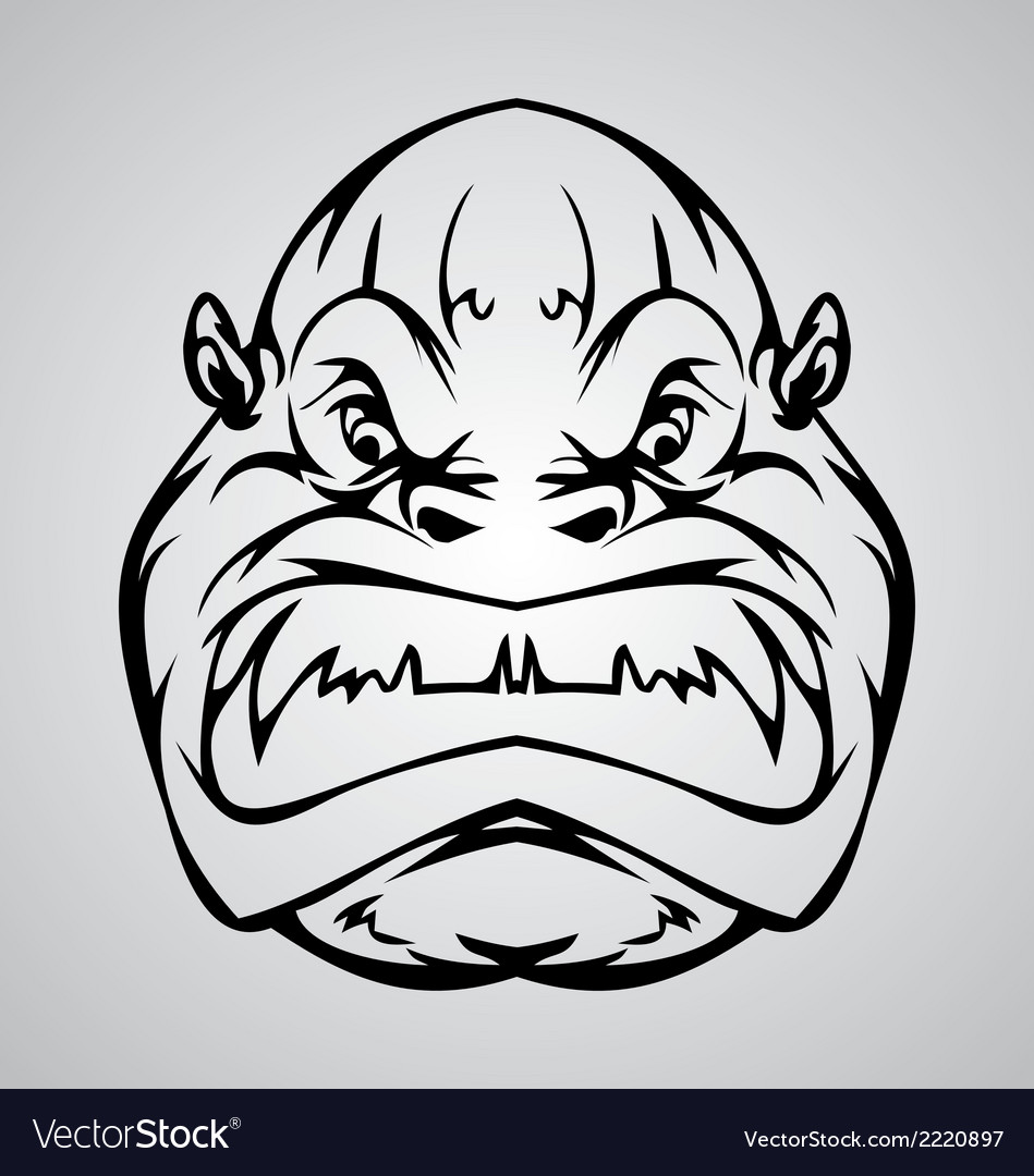 Monkey face vector   Price: 1 Credit (USD $1)