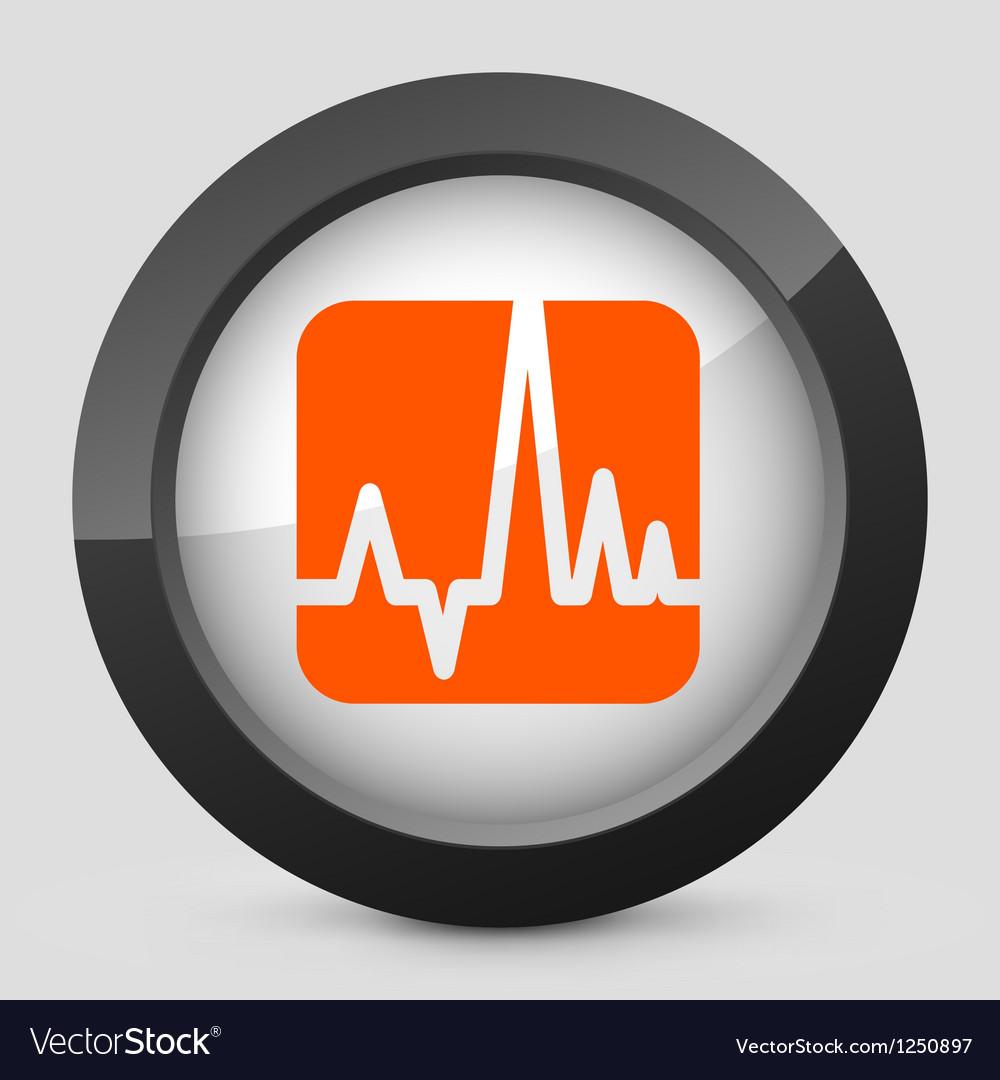Orange and gray elegant glossy icon vector | Price: 1 Credit (USD $1)