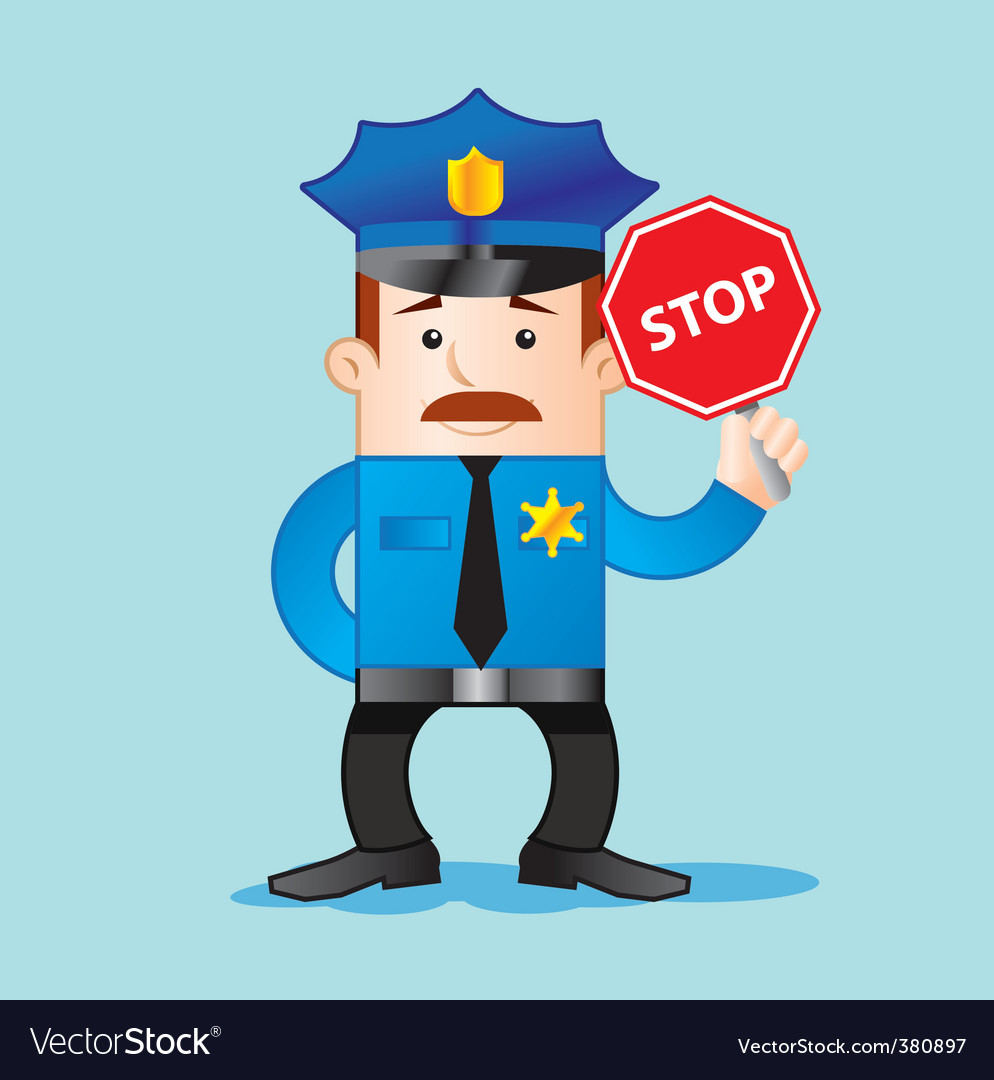 Traffic police vector | Price: 1 Credit (USD $1)