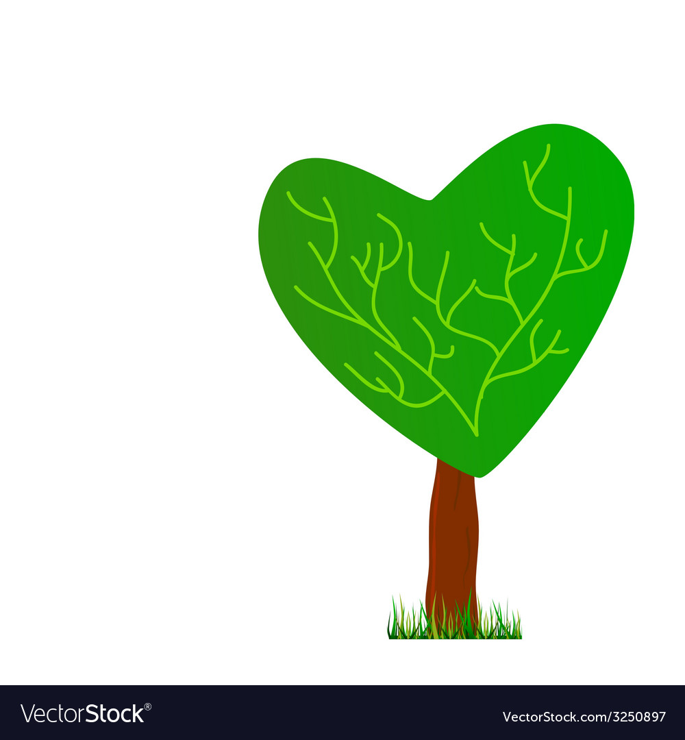 Tree with heart vector   Price: 1 Credit (USD $1)