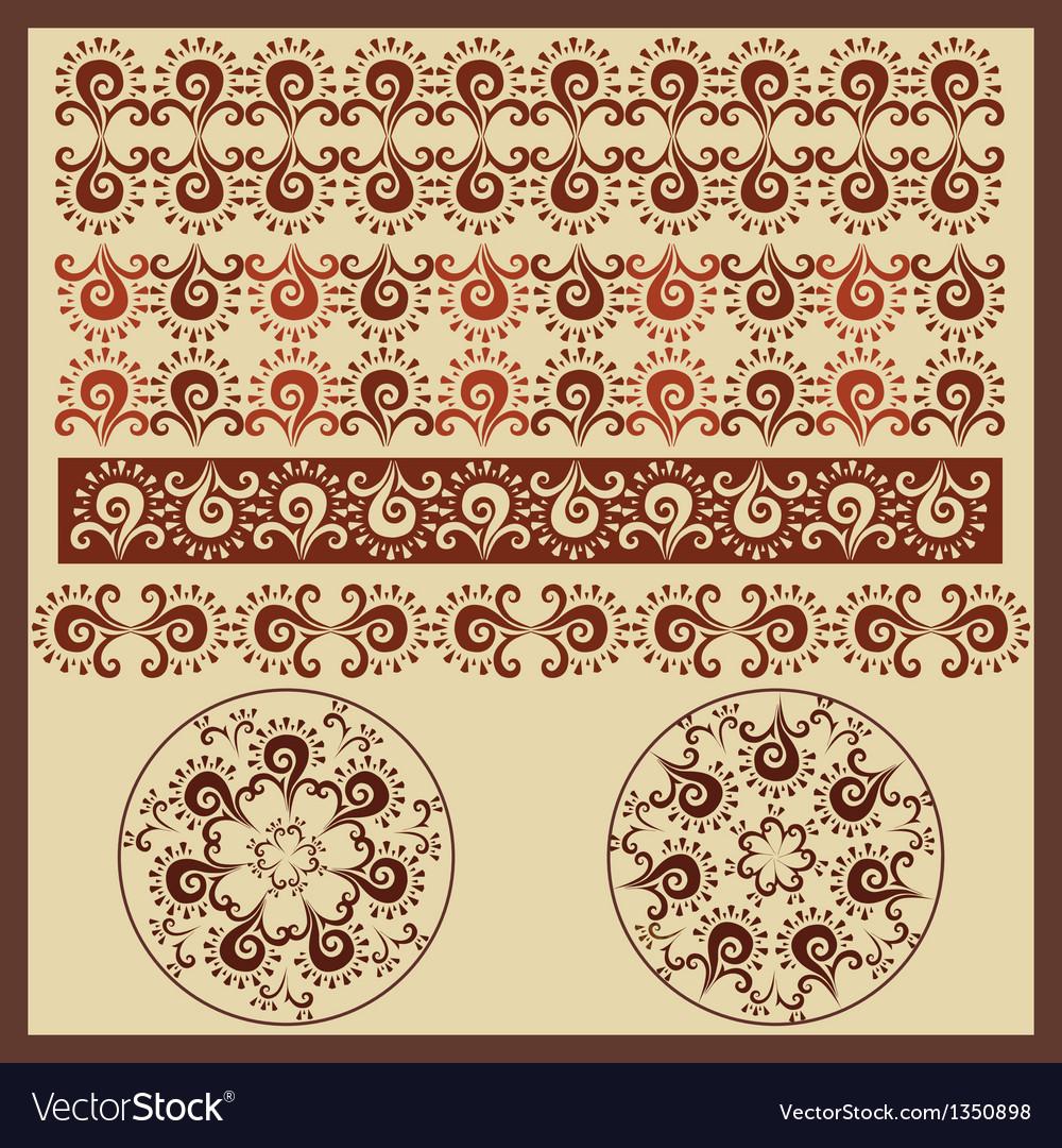Antique border design version vector | Price: 1 Credit (USD $1)