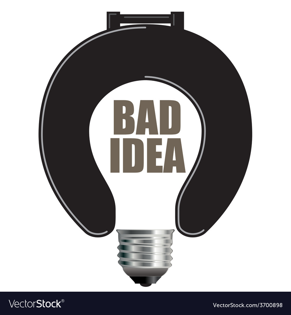Bad idea light bulb vector | Price: 1 Credit (USD $1)