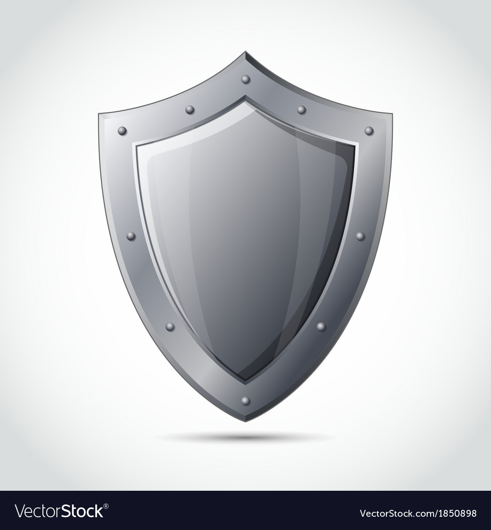 Blank shield business protection emblem vector | Price: 1 Credit (USD $1)