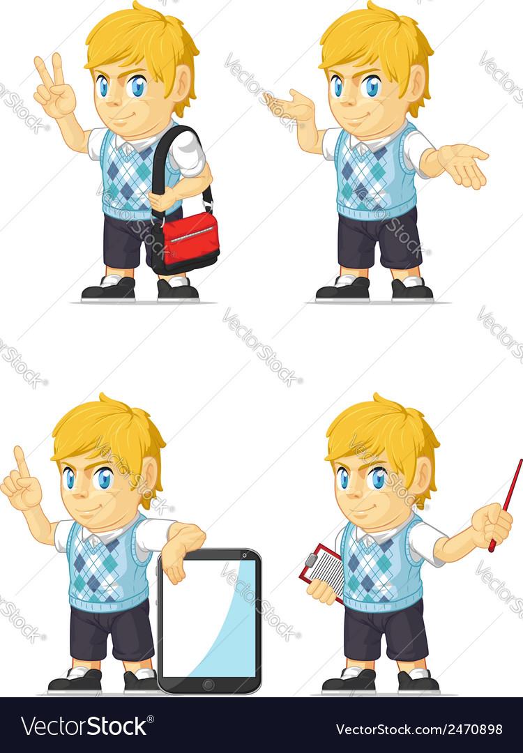 Blonde rich boy customizable mascot 10 vector | Price: 1 Credit (USD $1)