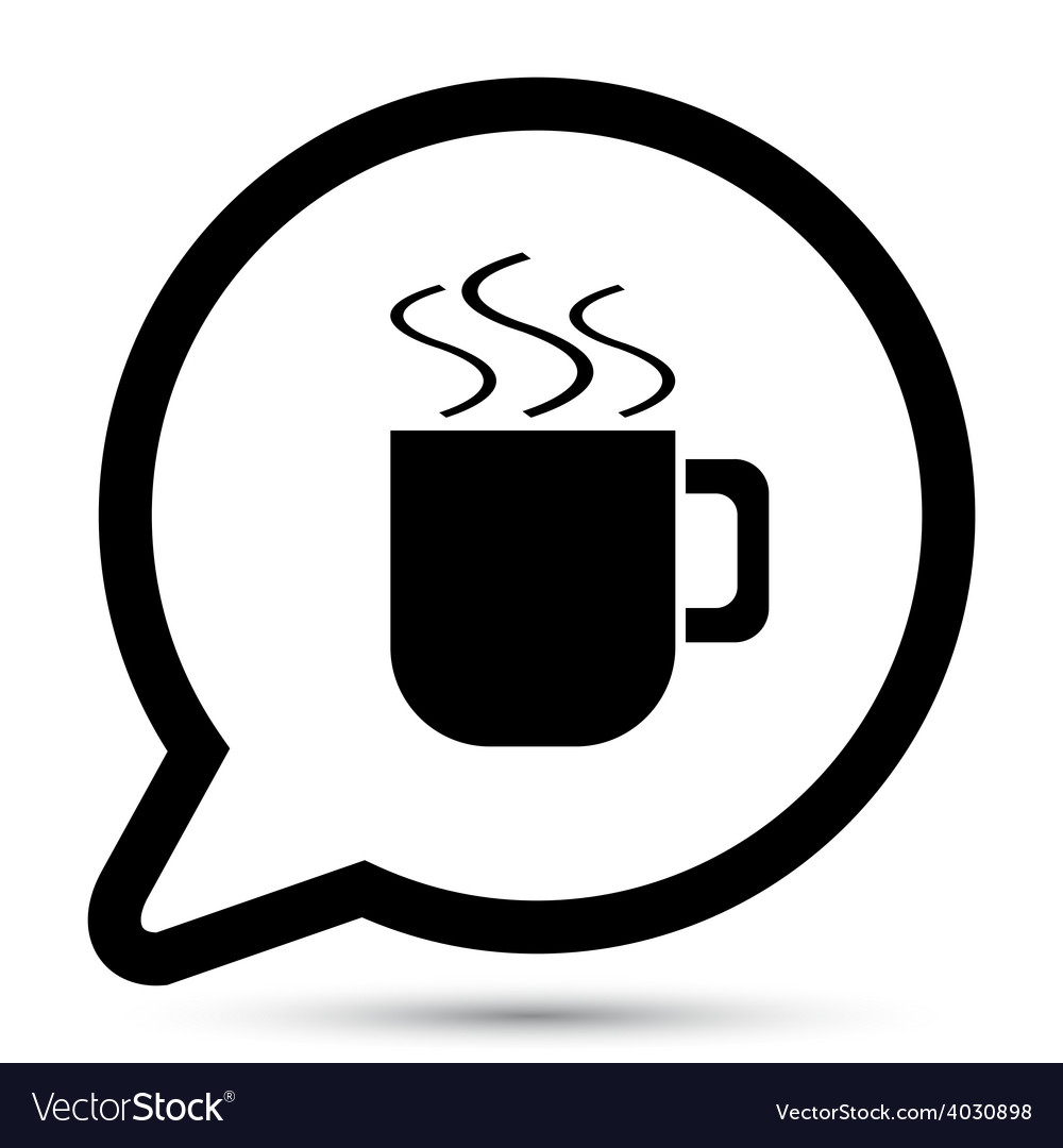 Bubble with cup icon vector | Price: 1 Credit (USD $1)