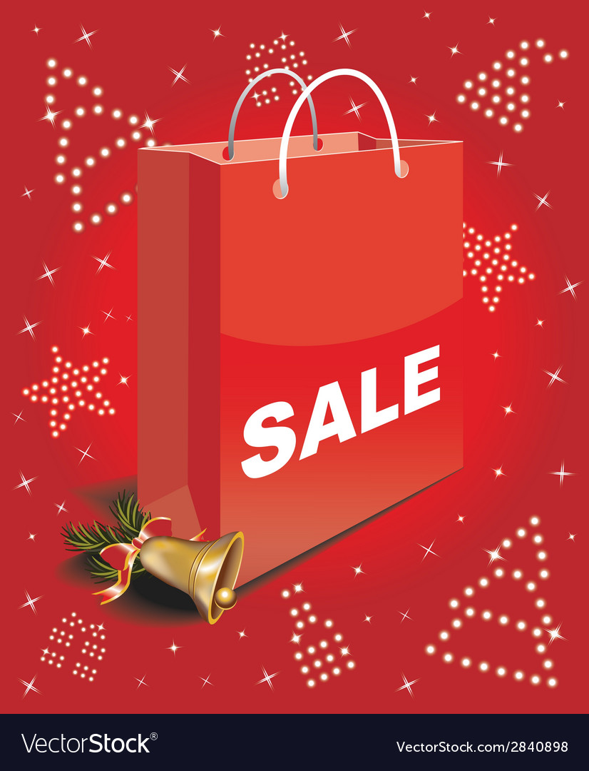 Christmas sale bag vector | Price: 1 Credit (USD $1)