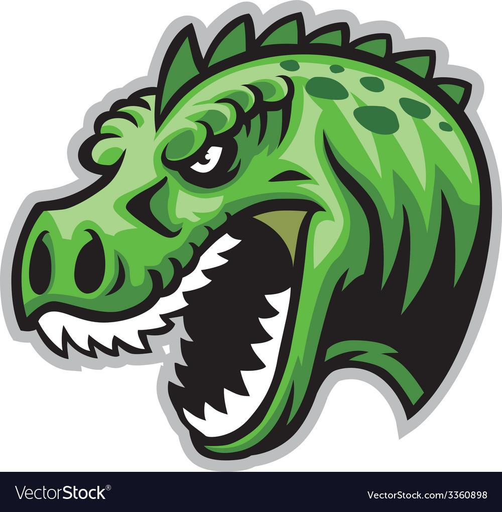 Dinosaur head vector | Price: 3 Credit (USD $3)