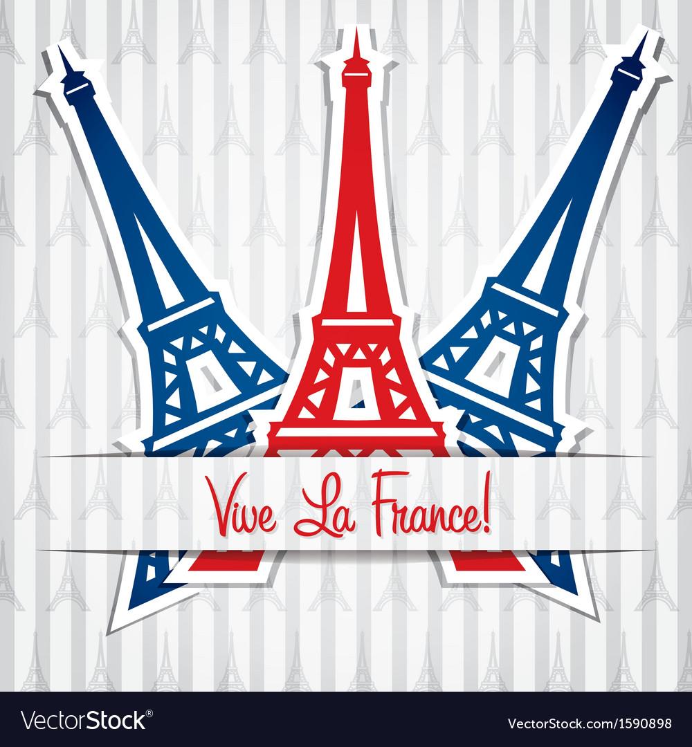 Eifel tower card vector | Price: 1 Credit (USD $1)