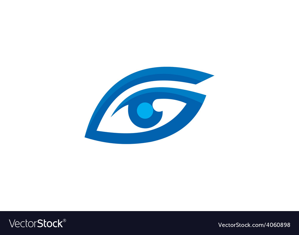 Eye vision optic abstract logo vector | Price: 1 Credit (USD $1)