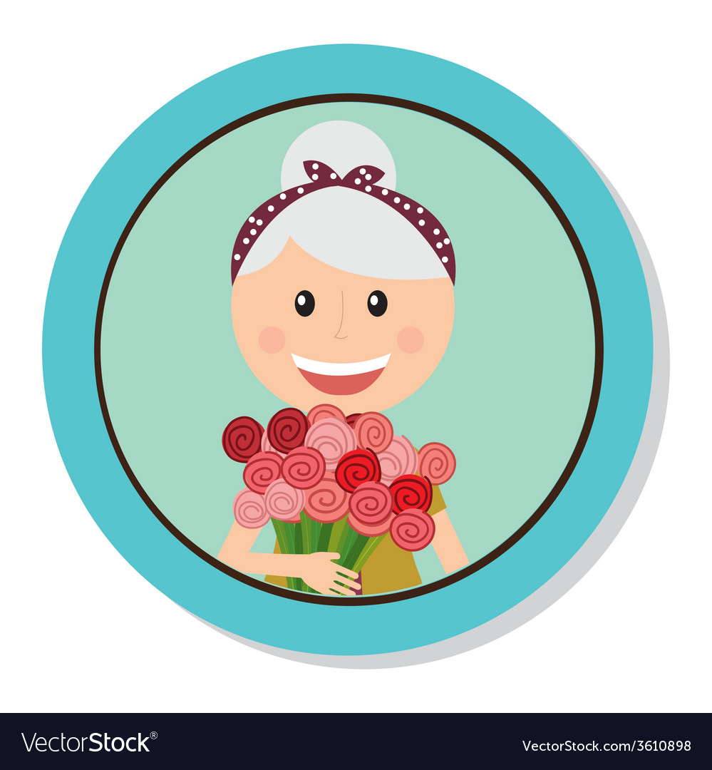 Grandmother day vector | Price: 1 Credit (USD $1)