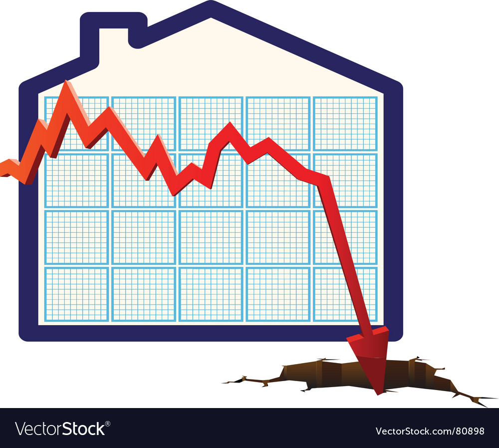 House prices graph vector   Price: 1 Credit (USD $1)