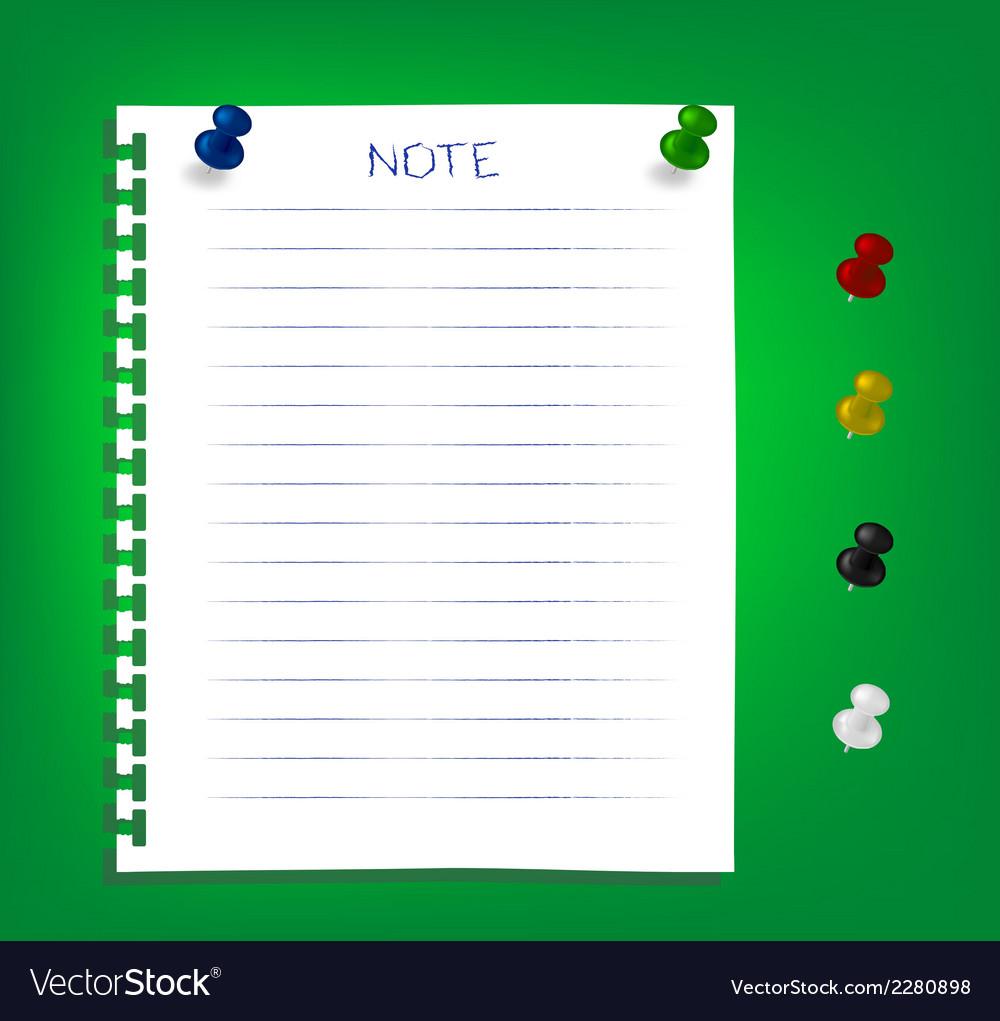 Noteclip5 vector | Price: 1 Credit (USD $1)