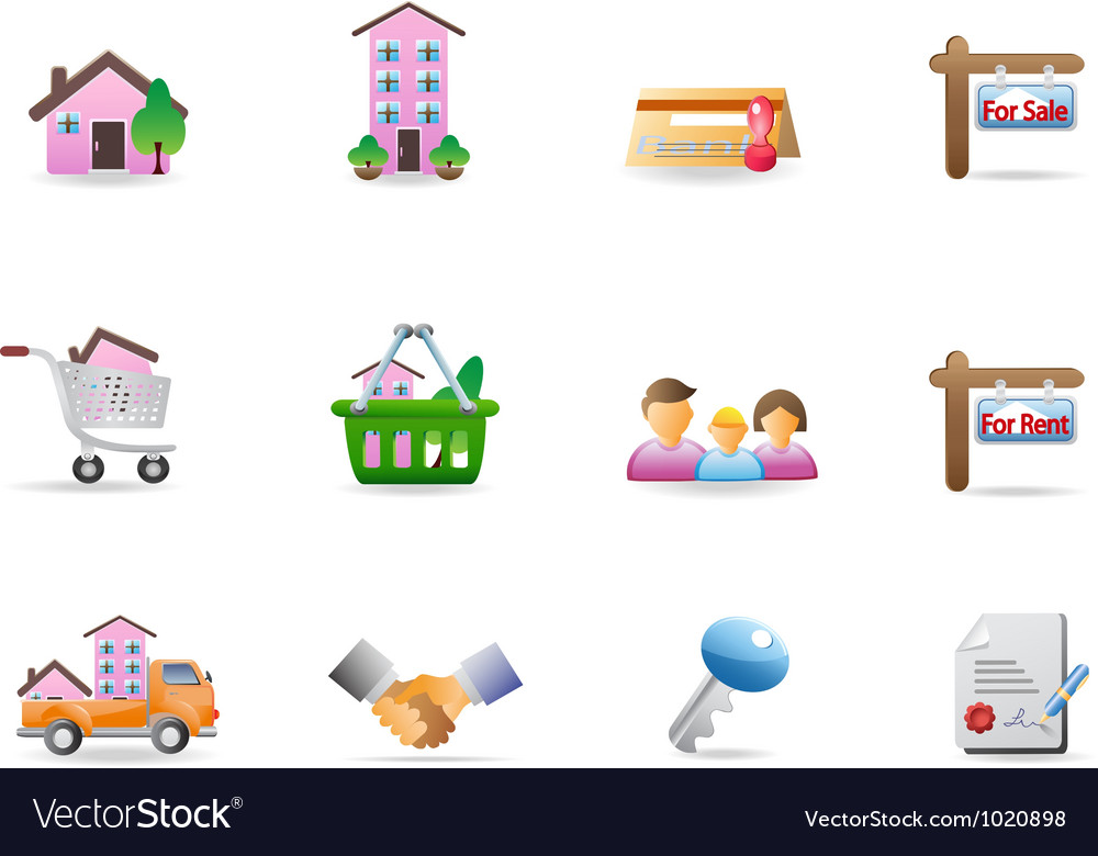 Real easte icon vector   Price: 1 Credit (USD $1)
