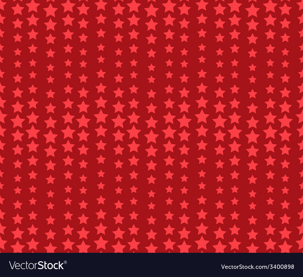 Seamless wavy red holiday pattern with stars vector | Price: 1 Credit (USD $1)