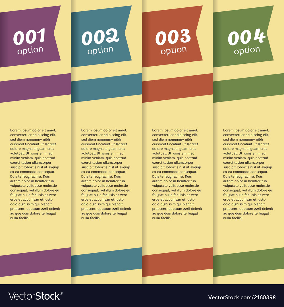 Set of banners with option number vector | Price: 1 Credit (USD $1)