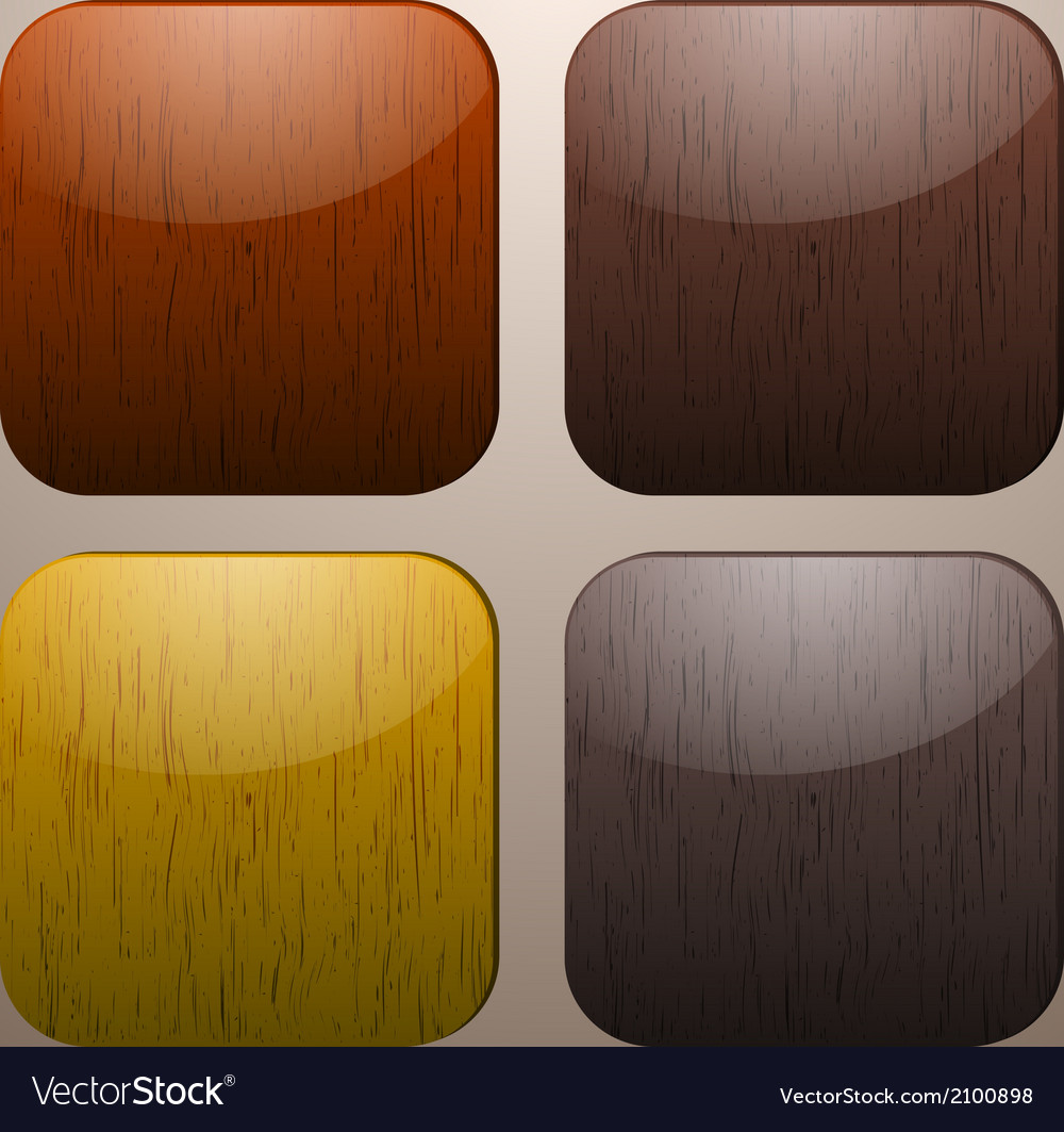 Wooden buttons vector | Price: 1 Credit (USD $1)