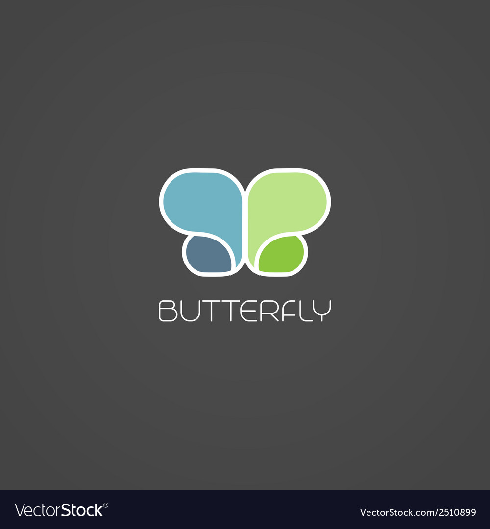 Abstract butterfly symbol vector | Price: 1 Credit (USD $1)