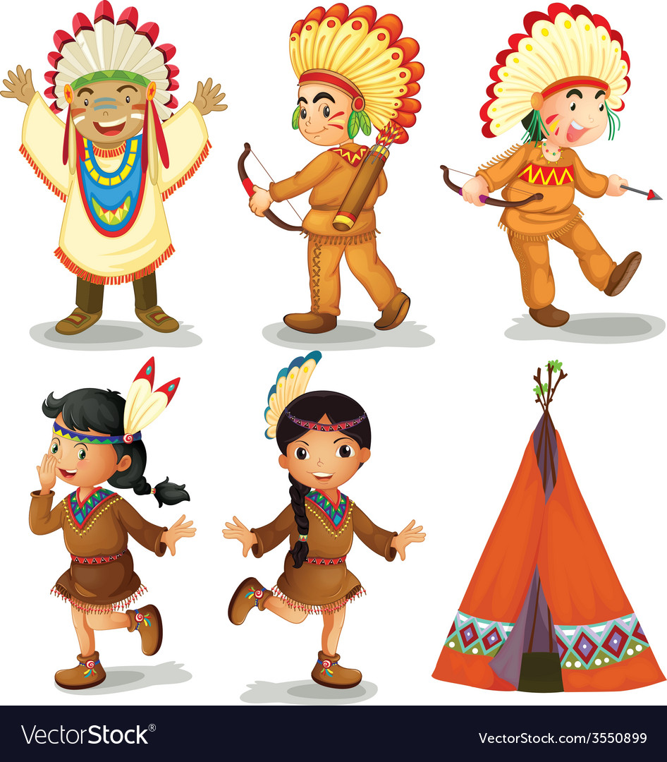 American indians vector | Price: 3 Credit (USD $3)