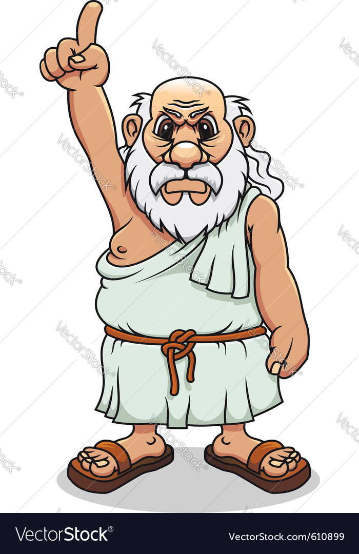 Ancient greek man vector | Price: 3 Credit (USD $3)