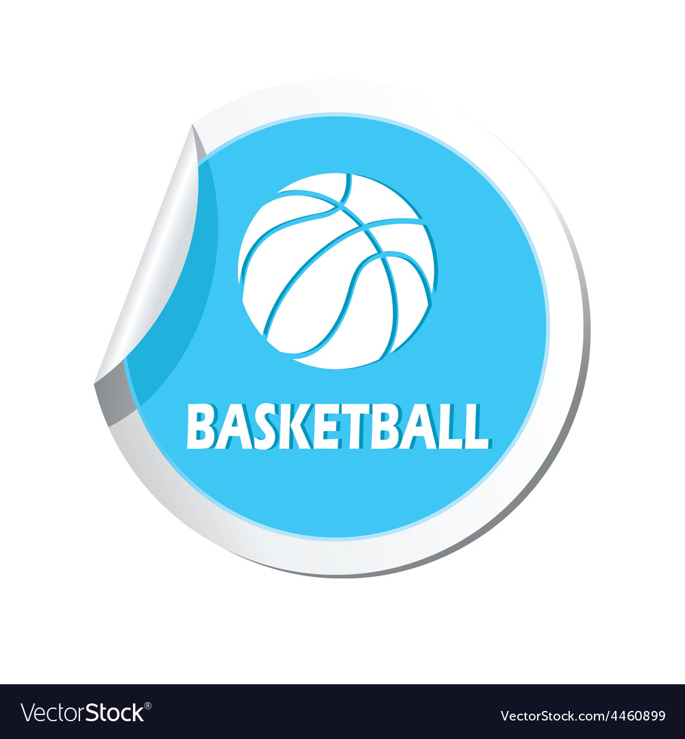 Basketball blue label vector | Price: 1 Credit (USD $1)