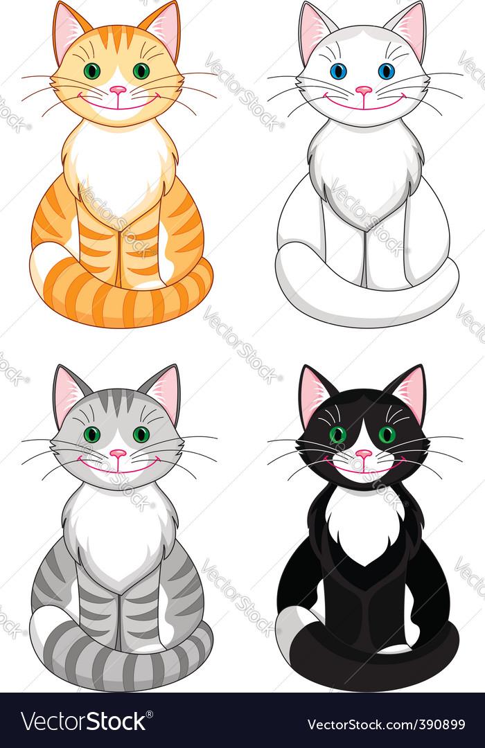 Cartoon cats vector | Price: 1 Credit (USD $1)