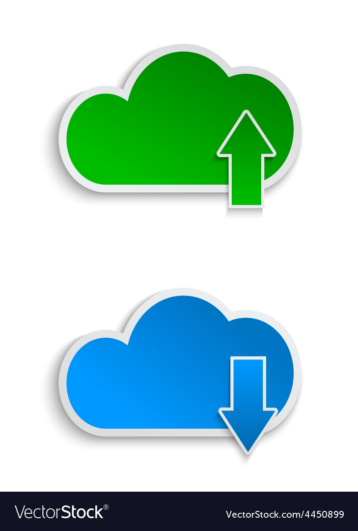 Cloud computing and file sharing vector | Price: 1 Credit (USD $1)