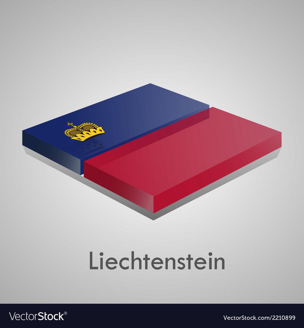 European flags set - liechtenstein vector | Price: 1 Credit (USD $1)