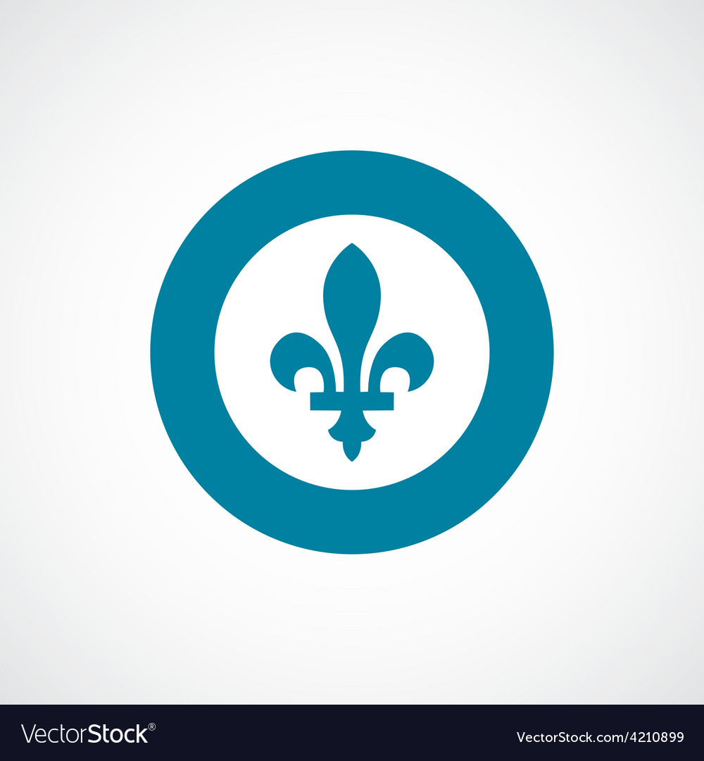 Fleur-de-lys icon bold blue circle border vector | Price: 1 Credit (USD $1)