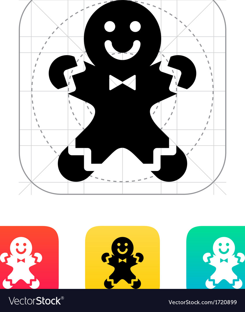 Gingerbread man icon vector | Price: 1 Credit (USD $1)