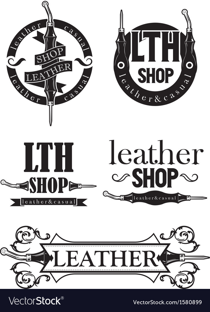 Leather logo vector | Price: 1 Credit (USD $1)